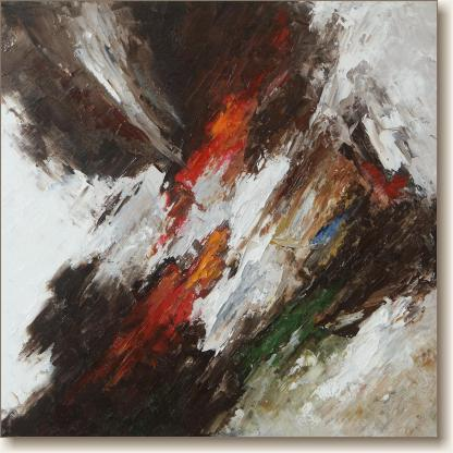 Excalibur - Abstract Expressionism Oil Painting