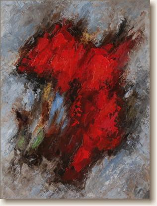 Playtime - Oil Painting, Abstract Expressionism