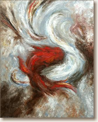 The Dance of Good and Evil - Abstract Expressionism Oil Painting